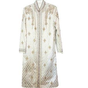 Vintage Men's Formal Wedding Sherwani Coat